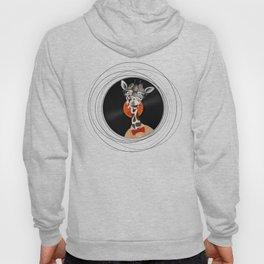 Intelligent giraffe on vinyl Hoody