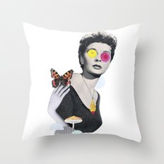 flower eyes Throw Pillow