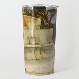 """Sir Lawrence Alma-Tadema """"Sappho and Alcaeus"""" Travel Mug"""
