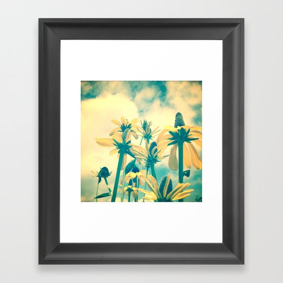 She Had a Carefree Spirit and Happy Heart Framed Art Print