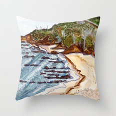 Cabo Mondego, Portugal Throw Pillow