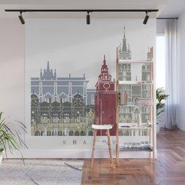 Krakow skyline poster Wall Mural