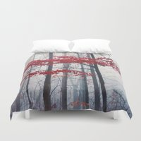 woodland Duvet Covers featuring Woodland Fantasy by Olivia Joy St.Claire - Modern Nature / T