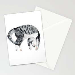 Yoga cat Stationery Cards