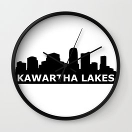 Kawartha Lakes Skyline Wall Clock