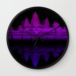 Angkor Wat Nights Wall Clock