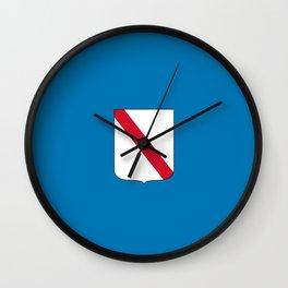 flag of campania Wall Clock
