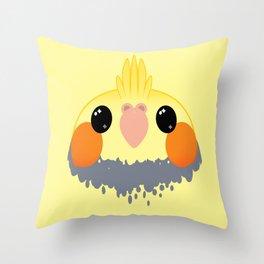 Cockatiel Birb Baby – v02 Throw Pillow