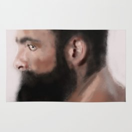 Bearded man Rug