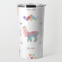 Colorful Alpaca Travel Mug