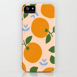 Oranges - gouache painting iPhone Case
