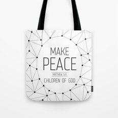 Make Peace Tote Bag