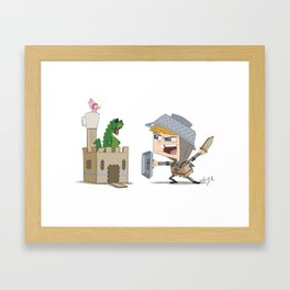 The Boy Knight Framed Art Print