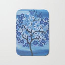 Blue Abstract Art Bath Mat
