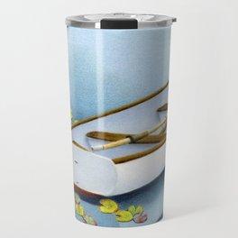 Among The Lily Pads- Square Format Travel Mug