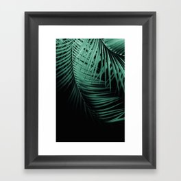 Palm Leaves Green Vibes #3 #tropical #decor #art #society6 Framed Art Print