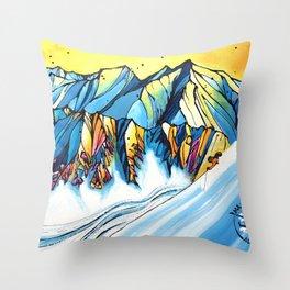 Majestic Heli Ski 2017 Throw Pillow