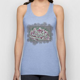 Peony named Shirley Temple Unisex Tank Top