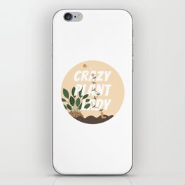 Flowering Crazy Plant Lady iPhone Skin