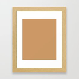 Brown Yellow - solid color Framed Art Print