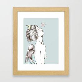 """Colored """"Memento Vivere, Memento Mori"""" Framed Art Print"""