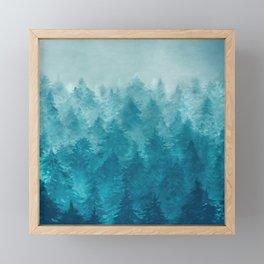 Misty Pine Forest 2 Framed Mini Art Print