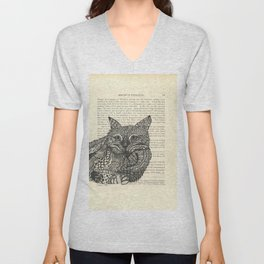 Meow Lounging Unisex V-Neck