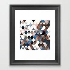geometric pattern Framed Art Print