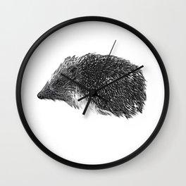 hedgehog baby, autumn Wall Clock