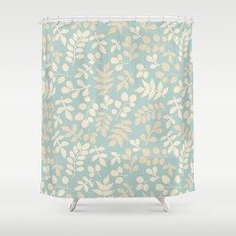 Seamless pattern on leaves theme, Autumn seamless pattern  Shower Curtain