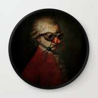 mozart Wall Clocks featuring Surreal Steampunk Mozart by Paul Stickland for StrangeStore