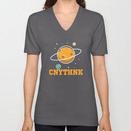 Sputnik Space Design Unisex V-Neck