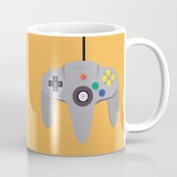 nintendo Mugs featuring Nintendo 64 by labrownie