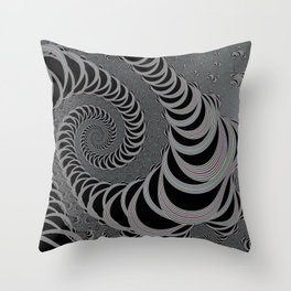 Space Worm - Black and White II. Throw Pillow