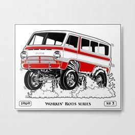 1969 GASSER VAN – Rev 2 RED Metal Print