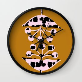 Seed Heads Wall Clock