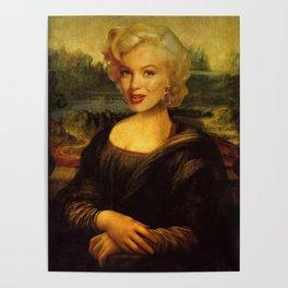 Mona Lisa & Marylin Poster