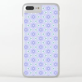 Periwinkles Pattern Clear iPhone Case