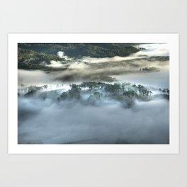 Mist on the Mountain Art Print