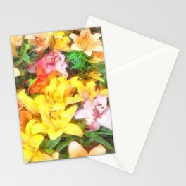 Lilies Love and Light Stationery Cards