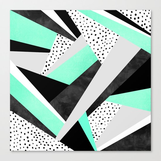 Crazy Fun Turquoise Canvas Print