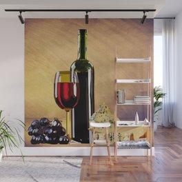 Wine & Cheese Wall Mural