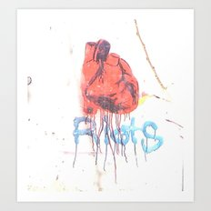 Bleeding Heart Graffiti Art Print