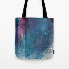 Atmosphere // blue magenta abstract textural painting, modern Tote Bag