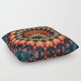 Fundamental Spiral Mandala Floor Pillow