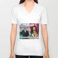 kardashian V-neck T-shirts featuring Trump Kardashian 2016  by Storm Media