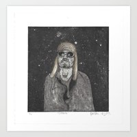 kurt cobain Art Prints featuring Kurt by Jackie Sharayko