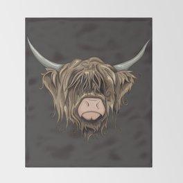 Highland Cow Throw Blanket