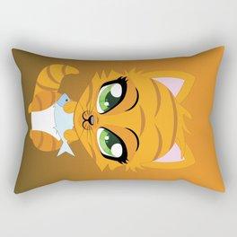 Cute little red kitten Rectangular Pillow