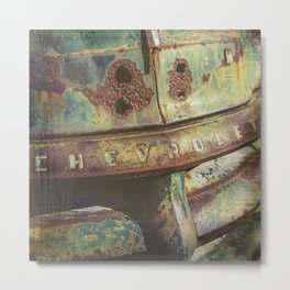 Chevy Patina Metal Print